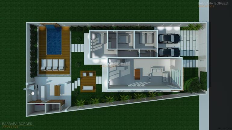 planta casa terrea garagem ampla