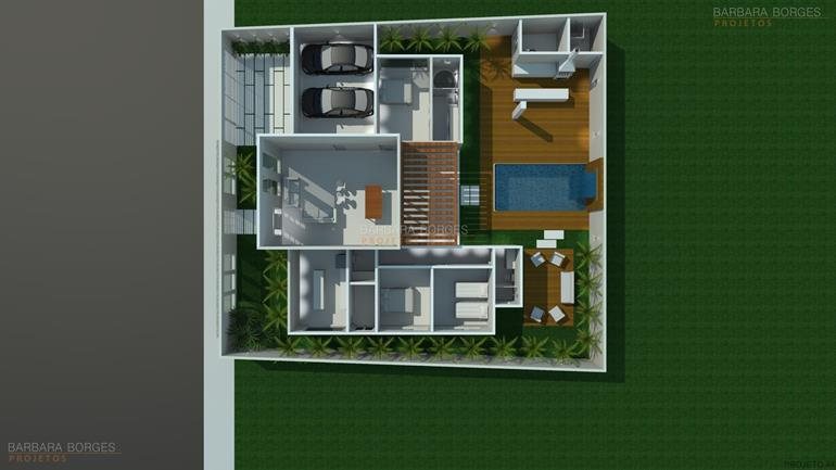 quartos planejados infantil planta casa terrea piscina