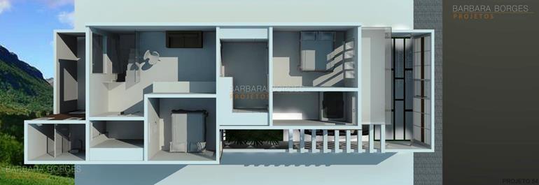 quartos planejados infantil planta casa tijolo vista