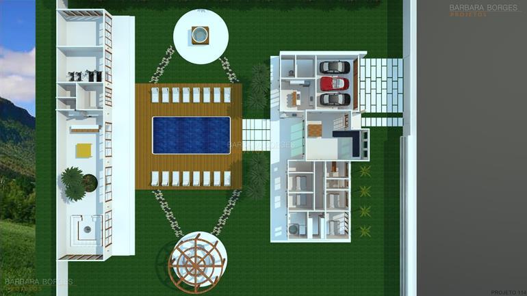 salas de jantar com espelhos planta casa tijolo vista
