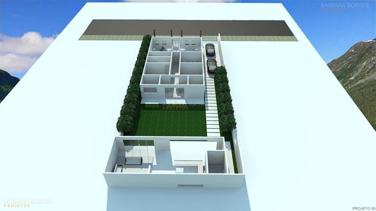 planta casa tijolo vista