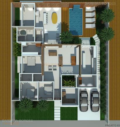 tudo sobre design de interiores planta casa tijolo vista