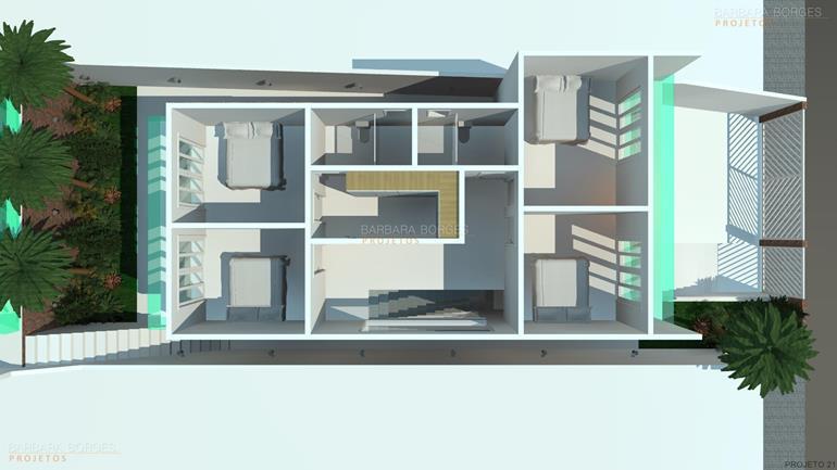simulador de decoração de ambientes planta contemporanea 3 suites