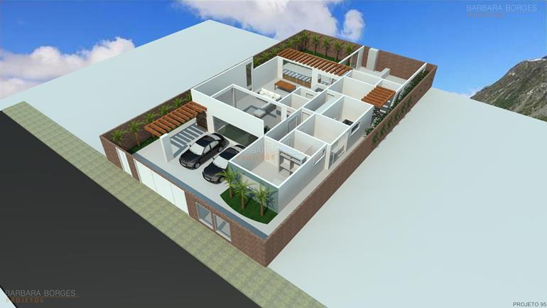 planta contemporanea 3 suites