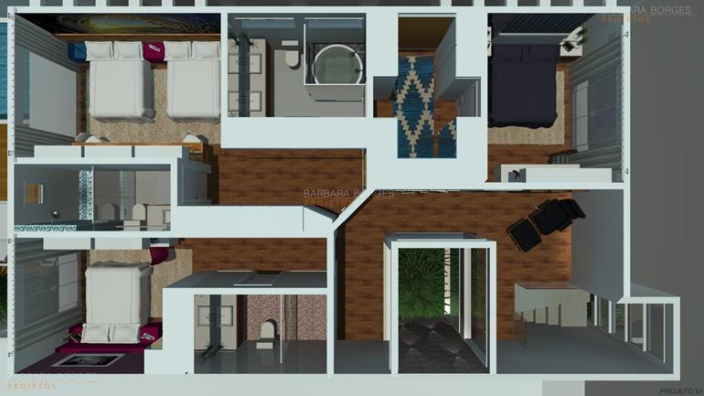 Decoracao Apartamentos planta humanizada