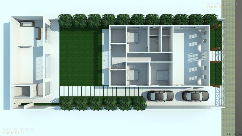 Decoracao Apartamentos planta sobrado contemporaneo