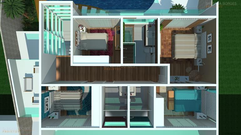 sofá para varanda planta sobrado escritorio