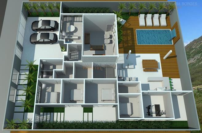 simulador de decoração de ambientes planta sobrado estilo chale 3 suites