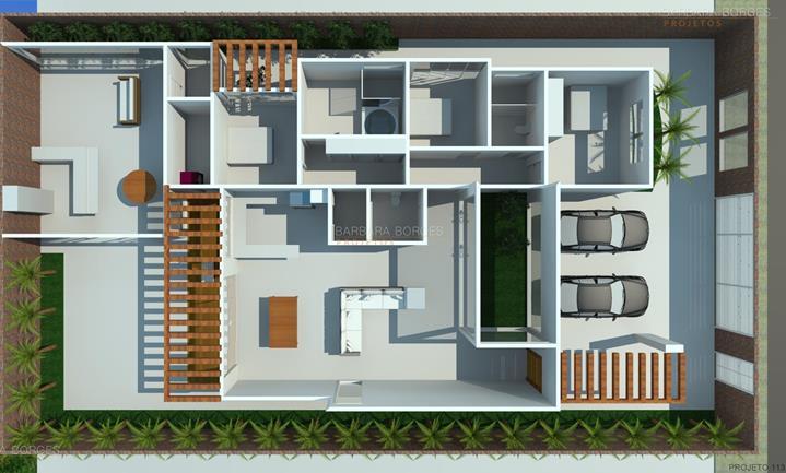 casa reforma planta sobrado estilo chale 3 suites
