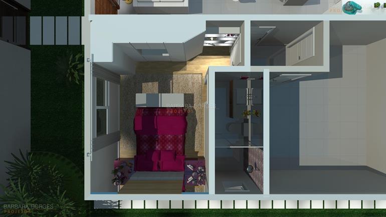 concreto projetado planta sobrado estilo chale 3 suites