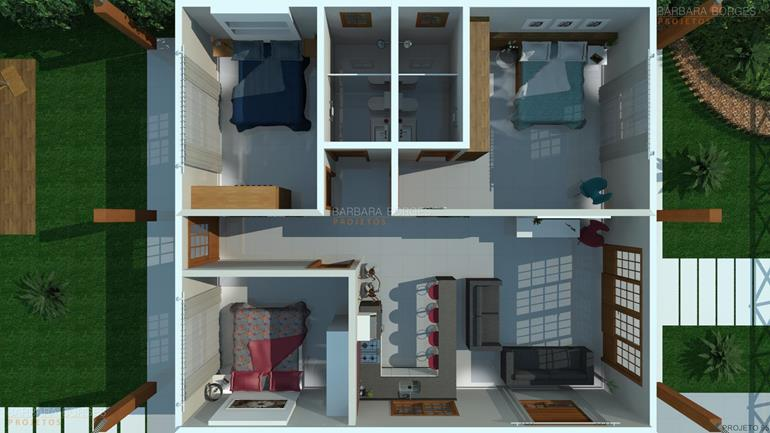 planta sobrado estilo chale 3 suites