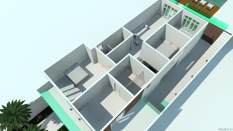 Decoracao Apartamentos planta sobrado moderno pergolado
