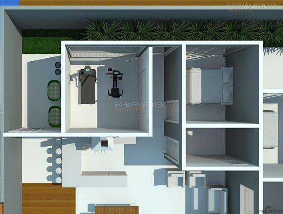 varanda apartamento planta sobrado pequeno