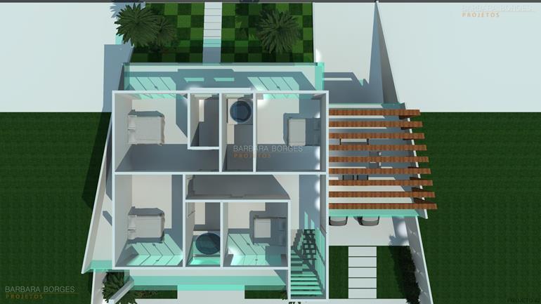 Planta sobrado pequeno barbara borges projetos for Sala de estar 3x5