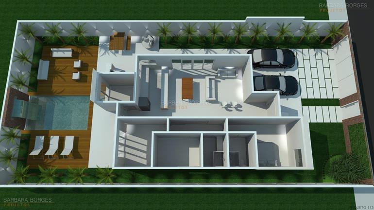 1 Floor Duplex Plans