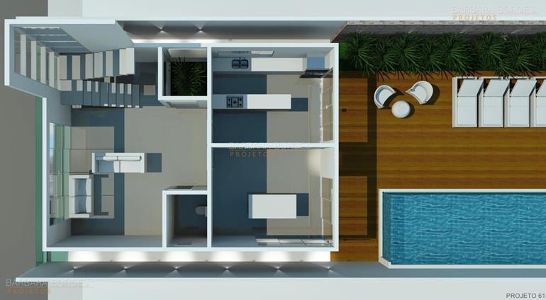 armarios de parede para cozinha planta sobrado telhado embutido