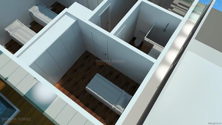 armarios embutidos para quarto planta sobrado terreno esquina