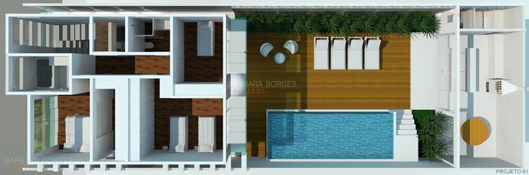 arquitetura 3d plantas baixas