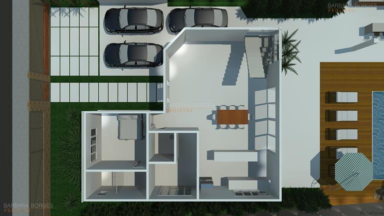 Plantas casas modernas pequenas barbara borges projetos for Armarios para habitaciones pequenas