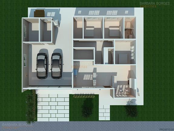 arquitetura 3d plantas casas modernas pequenas
