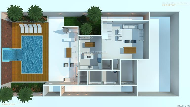 Plantas casas modernas pequenas barbara borges projetos for Modelos de casas de una planta modernas