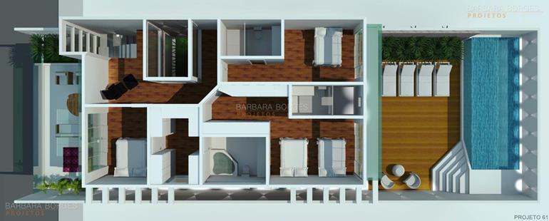 Plantas casas modernas pequenas barbara borges projetos Interiores de casas modernas 2016