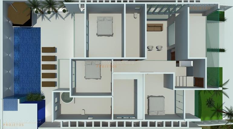 arquitetura 3d plantas interiores