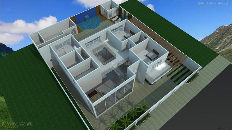 Plantas terreno 10x25 barbara borges projetos for Modelo de casa 7 x 10