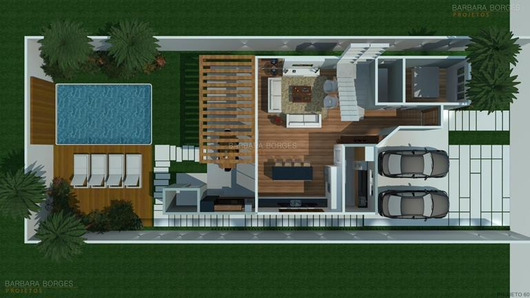 Plantas terreno 12x20 barbara borges projetos for Decorar casas online 3d