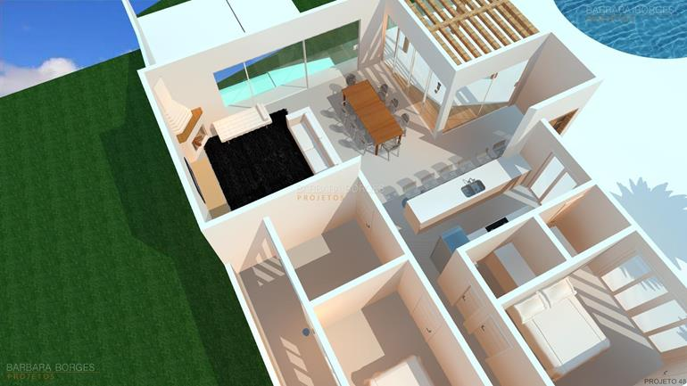 cadeiras para sala de jantar modernas plantas terreno 12x28