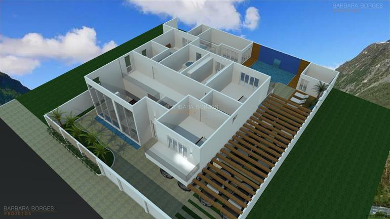 casas com area de lazer plantas terreno 15x30