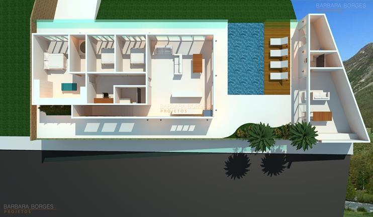 churrasqueira de bancada plantas terreno 6x25
