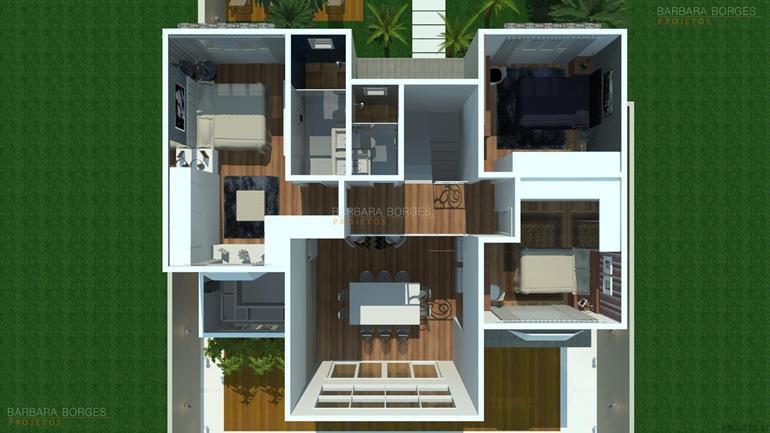 cozinha modulada todeschini plantas terreno 8x25