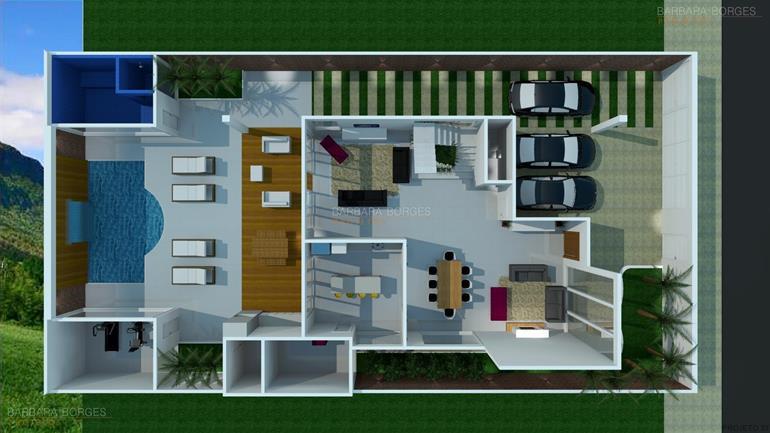 como projetar uma cozinha plantas terreno 9x25