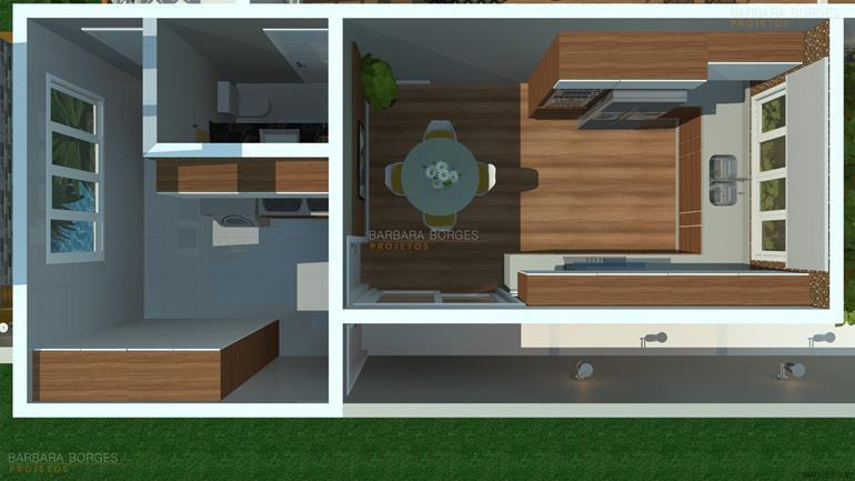 cozinha moduladas plantas terreno 9x25