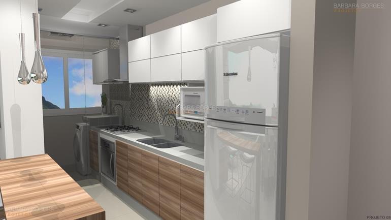 cozinhas planejadas para apartamento projetar Armarios 3D