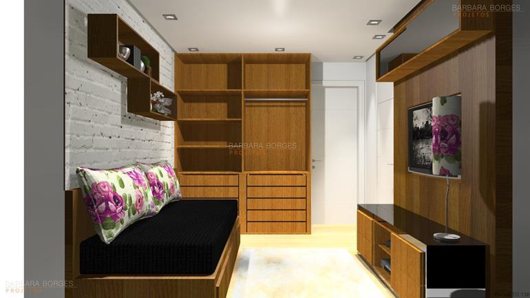 cozinha linear projetar Quarto