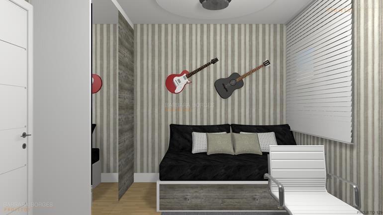 curso design interiores projeto 2 quartos cidade