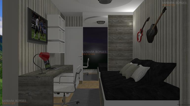 decoração ambientes projeto 2 quartos varanda