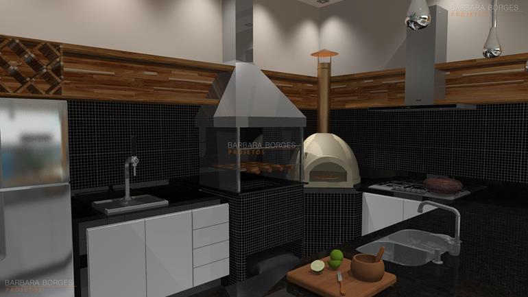 decoração ambientes projeto churrasqueira