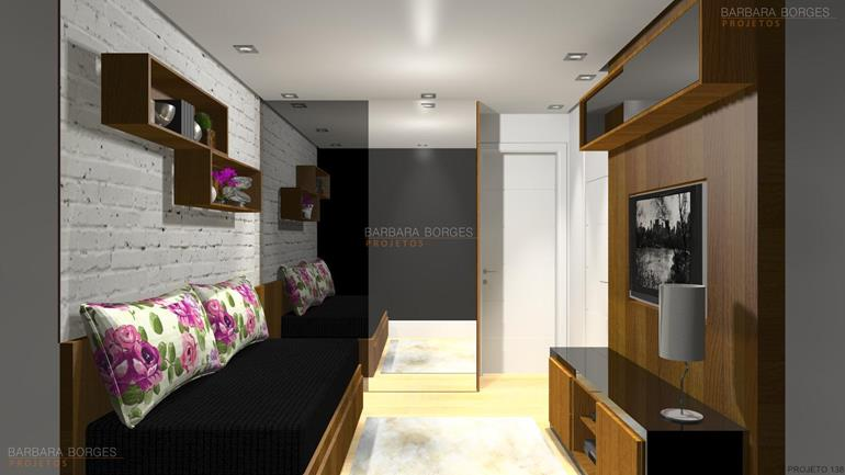 decoraçao de quarto pequeno projeto closet