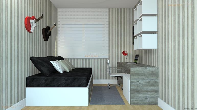 decoração de quartos pequenos de casal projeto closet