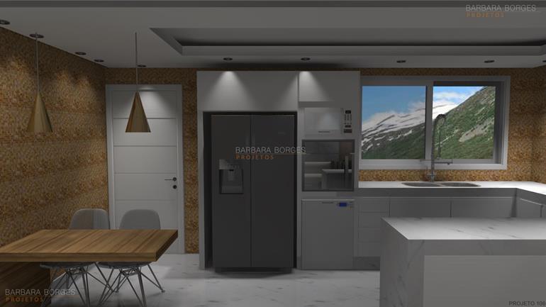 decoração interiores apartamentos pequenos projeto cozinhas