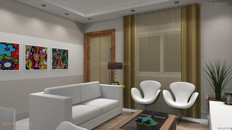decoração interiores apartamentos pequenos projeto design