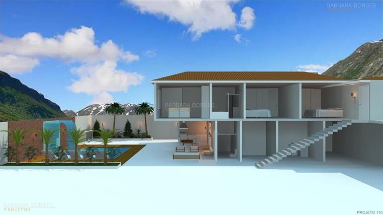 designer de ambientes projeto fachada madeira