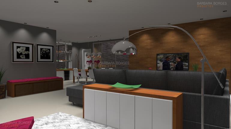 decoração interiores apartamentos pequenos projeto kitnet