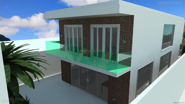 dormitorio de casal completo projeto sobrado fachada vidro