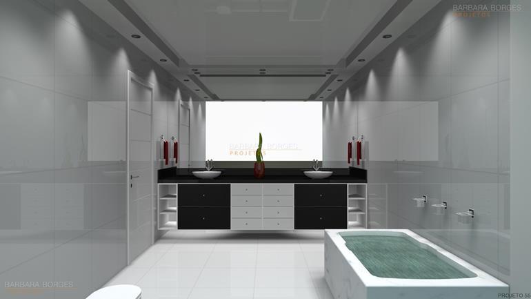 escritorio de design de interiores projetos banheiros