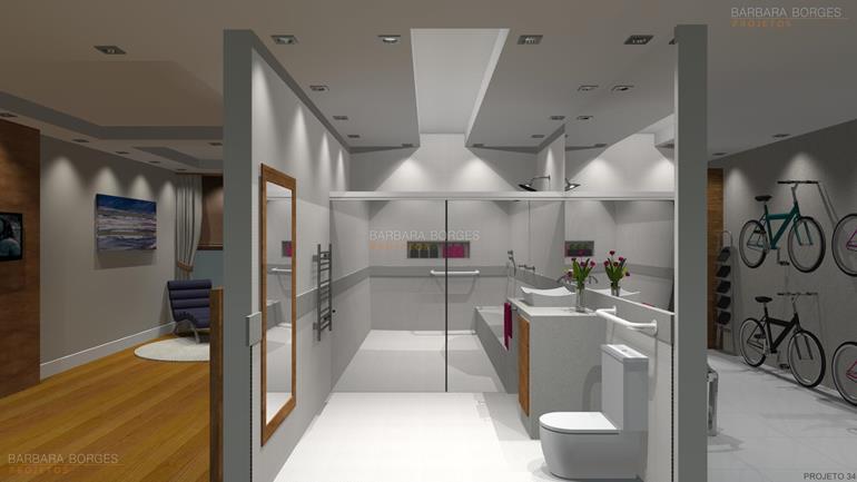 Projetos Banheiros Pequenos  Barbara Borges Projetos -> Projeto De Banheiro Muito Pequeno
