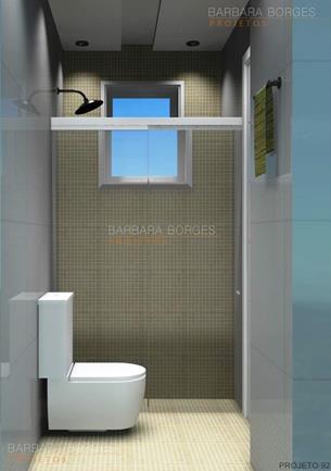 projetos banheiros pequenos